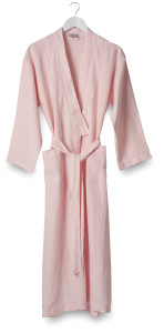 Bella Women's Ice Pink Linen Dressing Gown Citta Design